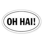 Oh Hai! Lolspeak, Lolcat Oval Sticker