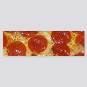 big pepperoni pizza Bumper Sticker