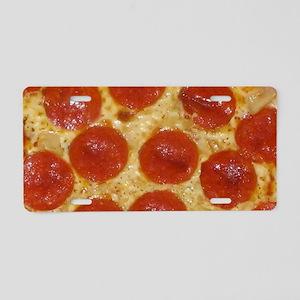 big pepperoni pizza Aluminum License Plate