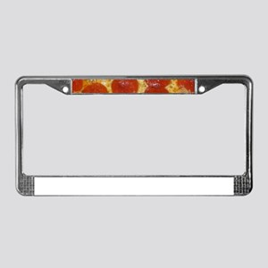 big pepperoni pizza License Plate Frame