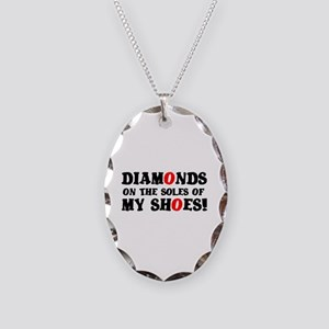 DIAMONDS ON THE SOLES OF MY SH Necklace Oval Charm