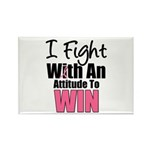 Breast Cancer Attitude Rectangle Magnet (10 pack)
