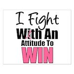 Breast Cancer Attitude Small Poster