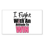 Breast Cancer Attitude Rectangle Sticker 10 pk)