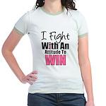 Breast Cancer Attitude Jr. Ringer T-Shirt