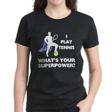 Tennis Superpower Women's Dark T-Shirt