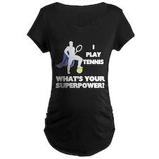 Tennis Superpower Maternity Dark T-Shirt