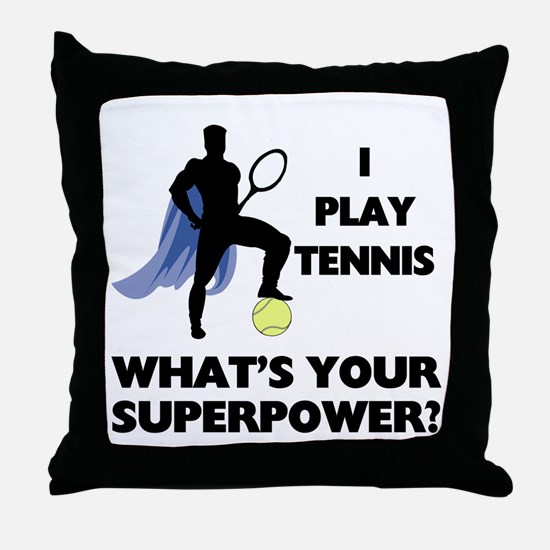 Tennis Superpower Throw Pillow
