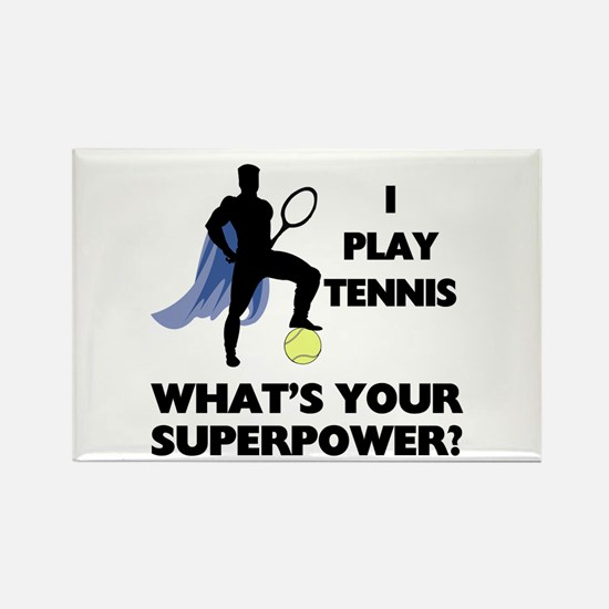 Tennis Superpower Rectangle Magnet