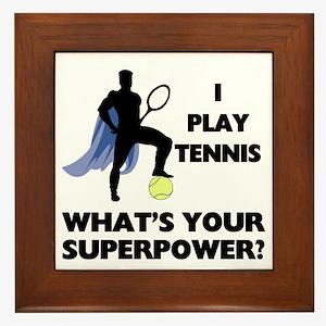 Tennis Superpower Framed Tile