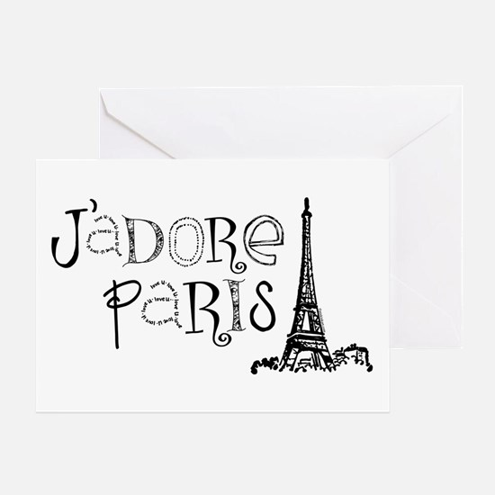 J'adore Paris Greeting Card