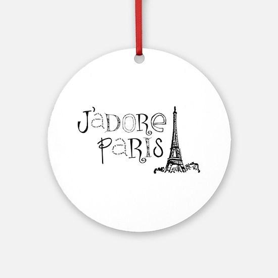 J'adore Paris Ornament (Round)