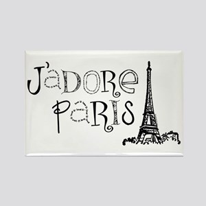 J'adore Paris Rectangle Magnet