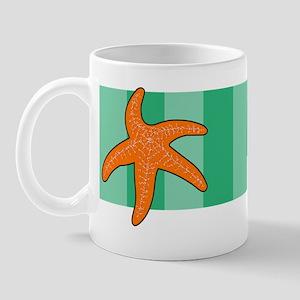 Starfish Green Stripe Mug