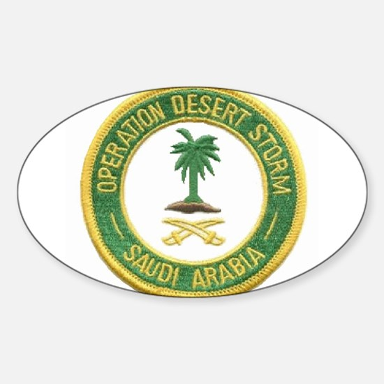 Desert Storm/Saudi Arabia.. Oval Decal