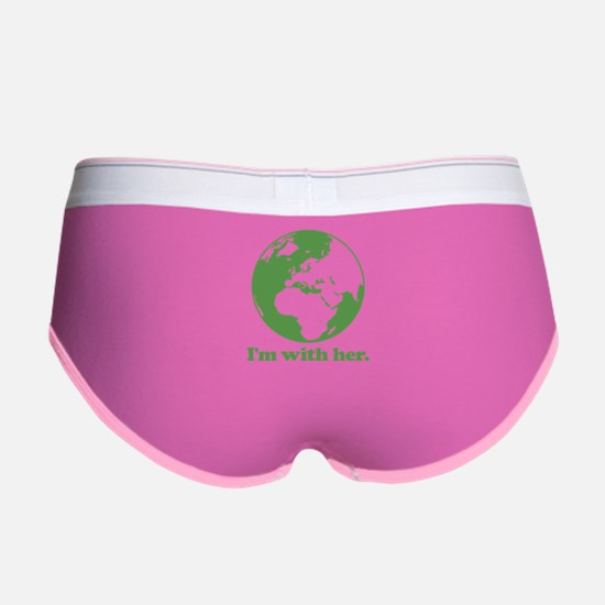 I'm With Her Green Women's Boy Brief
