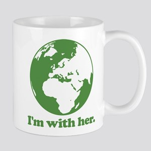 I'm With Her Green Mug