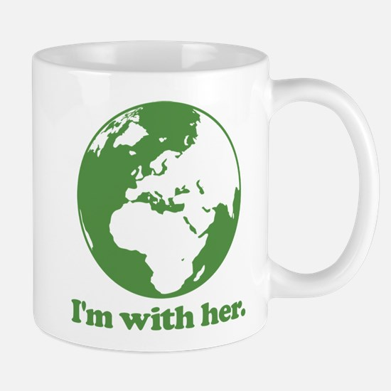 I'm With Her Green Mug