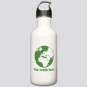 I'm With Her Green Stainless Water Bottle 1.0L