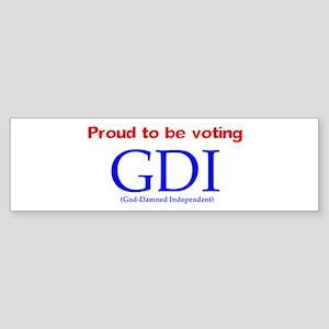 Voting GDI Bumper Sticker