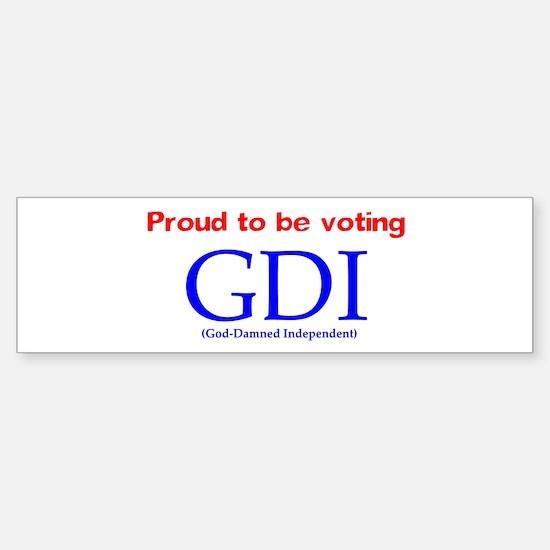 Voting GDI Bumper Bumper Bumper Sticker
