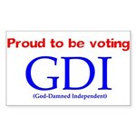 Voting GDI Rectangle Sticker 10 pk)