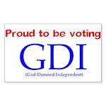 Voting GDI Rectangle Sticker