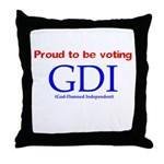 Voting GDI Throw Pillow