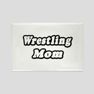 """Wrestling Mom"" Rectangle Magnet"