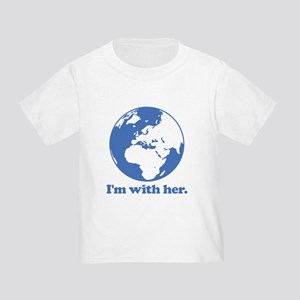 I'm With Her Blue Toddler T-Shirt