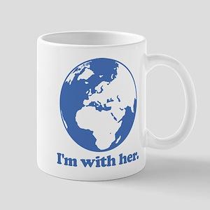 I'm With Her Blue Mug