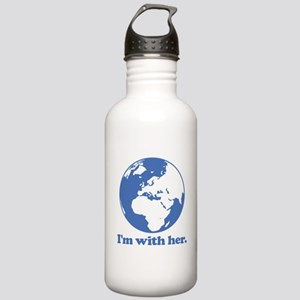 I'm With Her Blue Stainless Water Bottle 1.0L