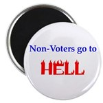 """Non-Voter Hell 2.25"""" Magnet (10 pack)"""