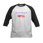 Non-Voter Hell Kids Baseball Jersey