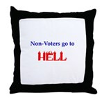 Non-Voter Hell Throw Pillow