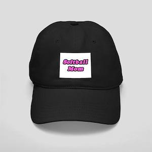 """Softball Mom (Pink)"" Black Cap"