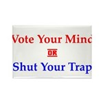 Vote Your Mind Rectangle Magnet (100 pack)