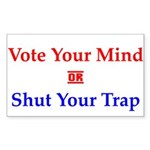 Vote Your Mind Rectangle Sticker