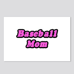 """""""Baseball Mom (Pink)"""" Postcards (Package of 8)"""
