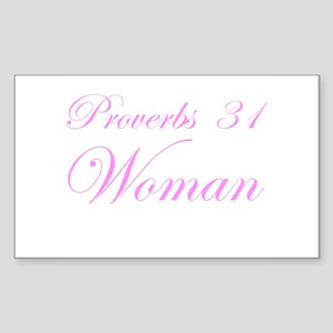 Pink Proverbs 31 Woman Rectangle Sticker