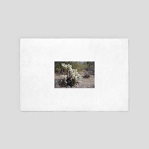 Teddy bear cholla cactus 4' x 6' Rug