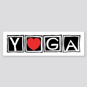 Love Yoga Bumper Sticker