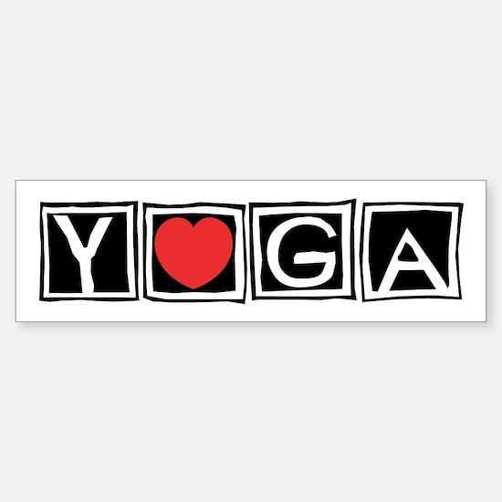 Love Yoga Bumper Bumper Bumper Sticker