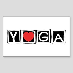 Love Yoga Rectangle Sticker