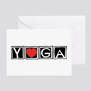 Love Yoga Greeting Card