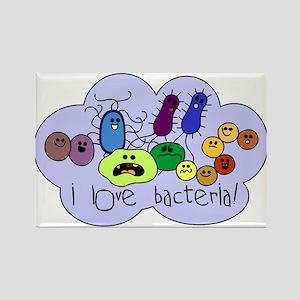 I Love Bacteria Rectangle Magnet