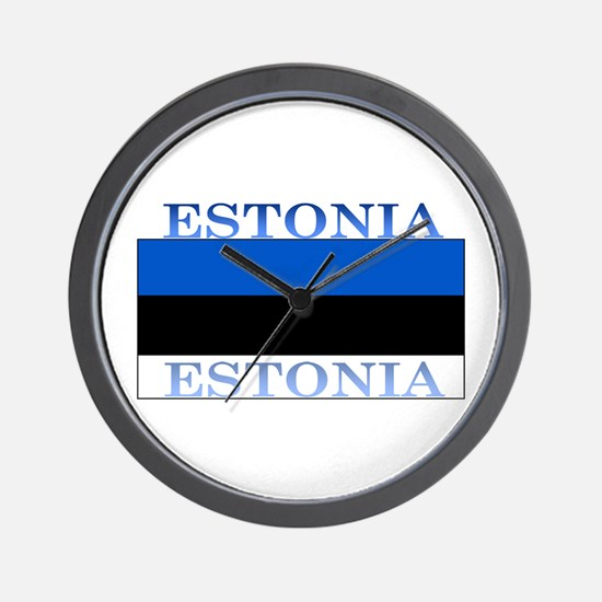 Estonia Estonian Flag Wall Clock