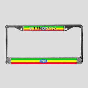 Ethiopia Ethiopian Flag License Plate Frame