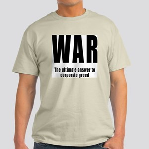 WAR - Corporate Greed Ash Grey T-Shirt