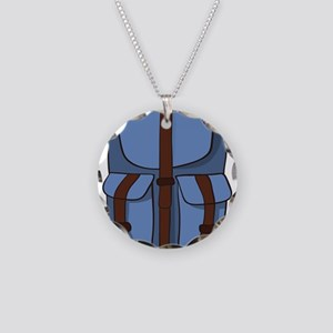 backpack Necklace Circle Charm